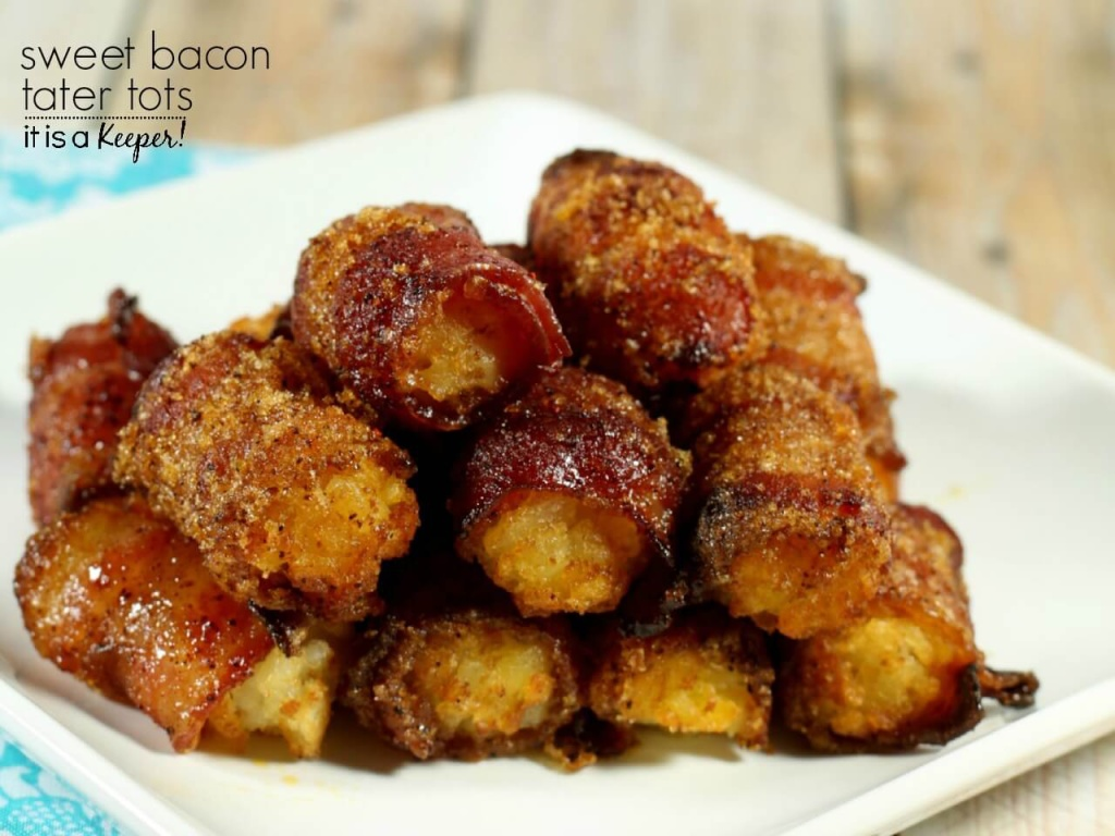Sweet Bacon Tater Tots Recipe - These bacon tater tot bombs disappear as fast you can make them