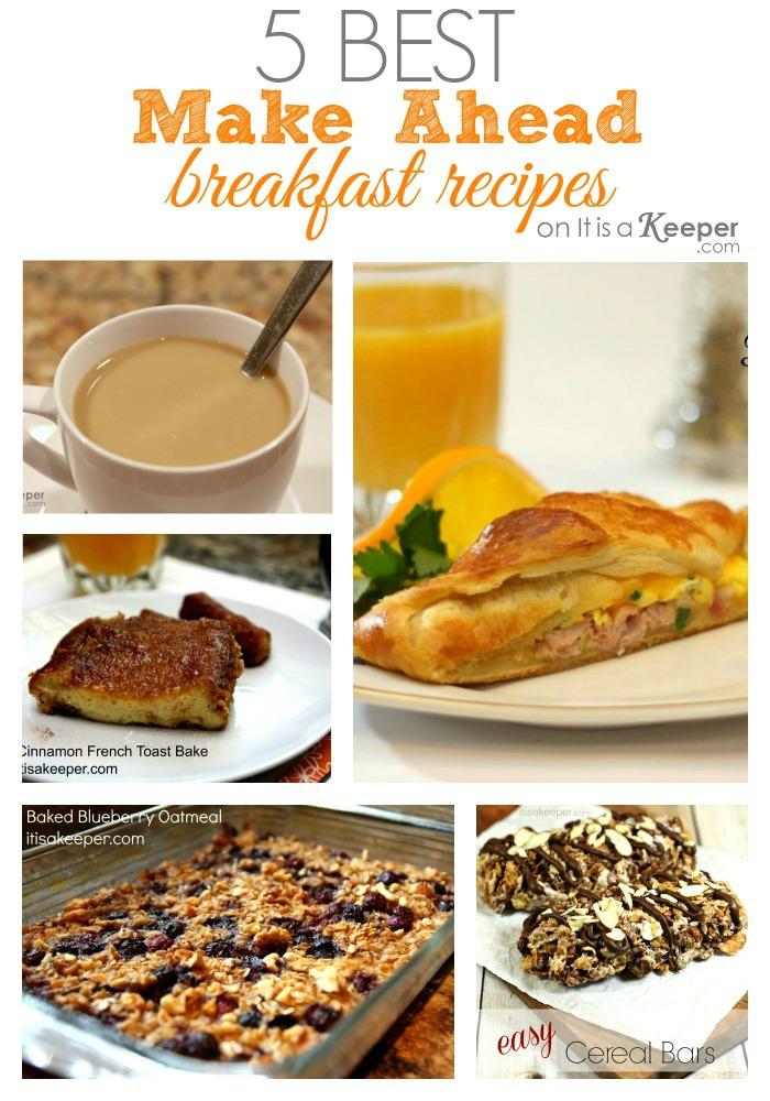 5 Best Make Ahead Breakfast Dishes - It Is a Keeper HERO 2
