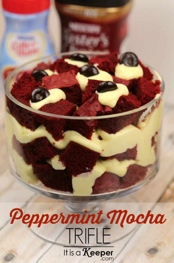 Easy Peppermint Mocha Trifle - It Is a Keeper