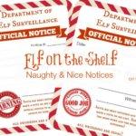 Elf on a Shelf Ideas: Naughty & Nice Notice Printables