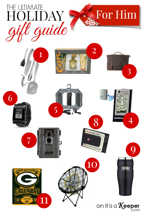 Holiday Gift Guide for Him - It Is a Keeper