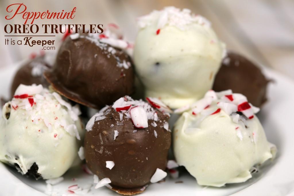 Easy Peppermint Oreo Truffles