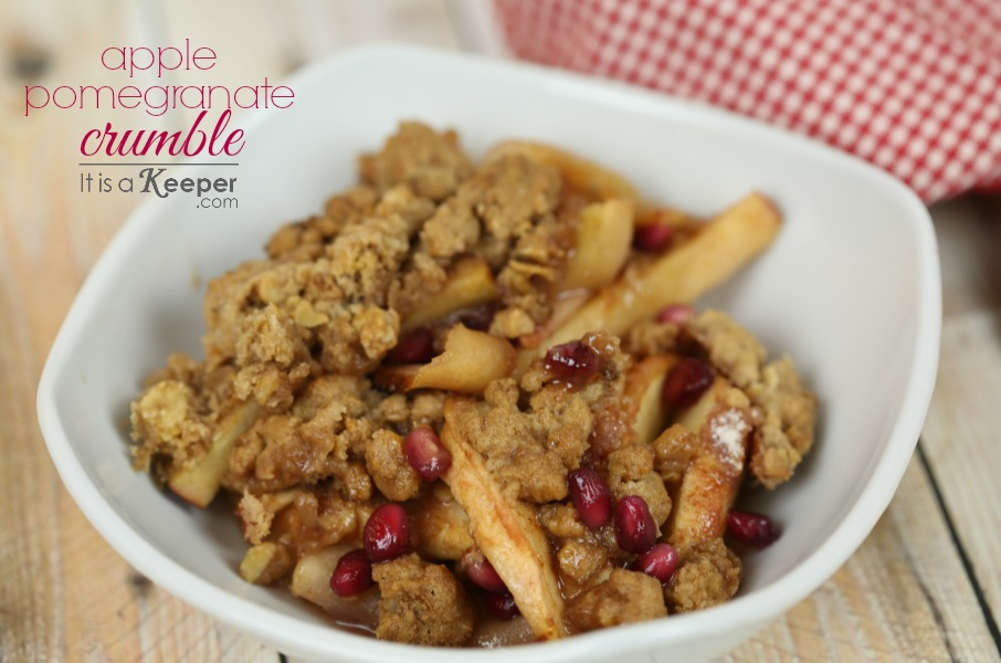 Recipes with Pomegranate - Apple Pomegranate Crumble - It Is a Keeper