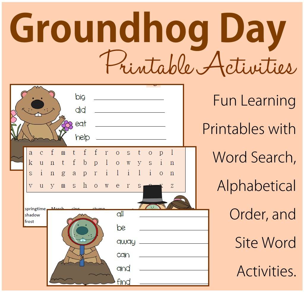Groundhog Day Printable Activities