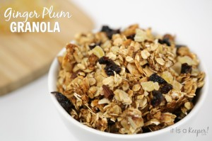 Recipe healthy Snack Ginger Plum Granola - It Is a Keeper