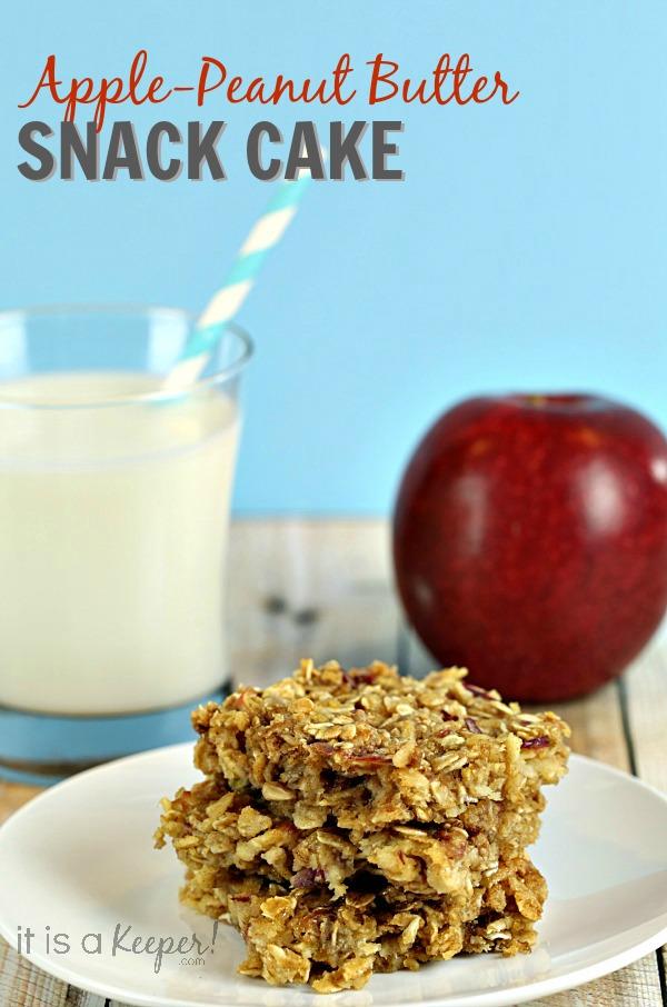 Apple Pie Cake Recipe Apple Peanut Butter Snack Cake - It Is a Keeper
