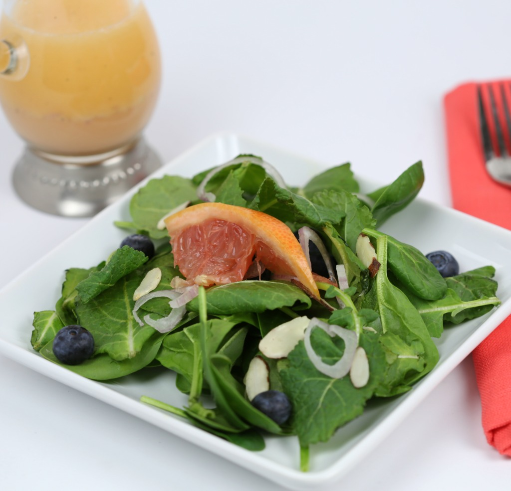 Baby Kale & Spinach Salad with Grapefruit Vinaigrette
