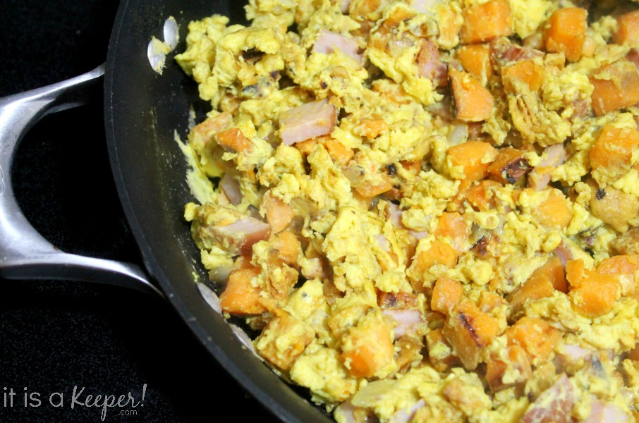 Ham and Sweet Potato Scrambled Eggs CONTENT - It is A Keeper