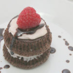 Mini Mocha Cakes with Raspberry Cream Cheese Frosting