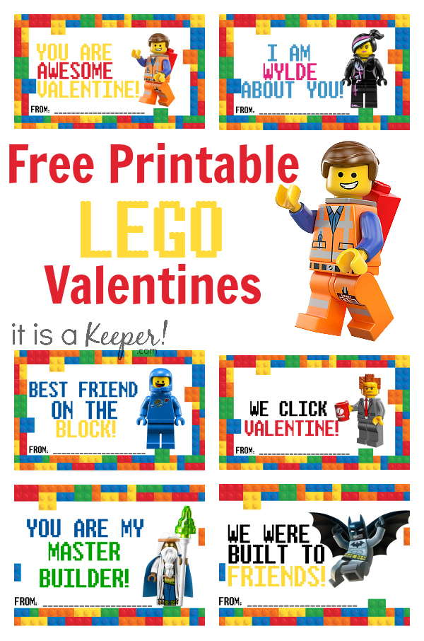 LEGO Valentine Cards Printable – Free Valentine Cards Printables