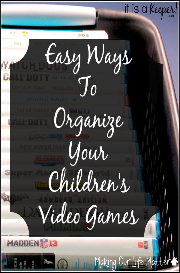 organize children's video games