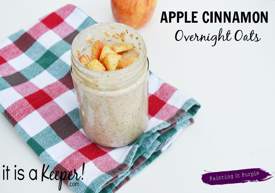 Apple Cinnamon Overnight Oats CONTENT - It Is a Keeper