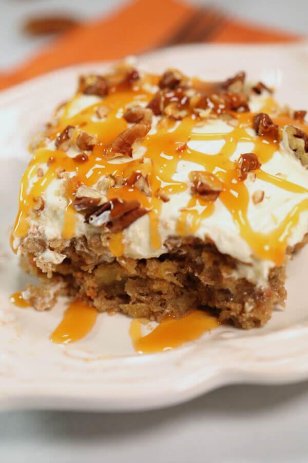 Carrot cake poke cake