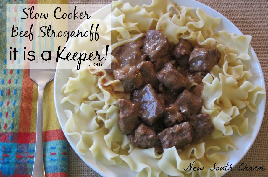 Slow Cooker Beef Stroganoff CONTENT
