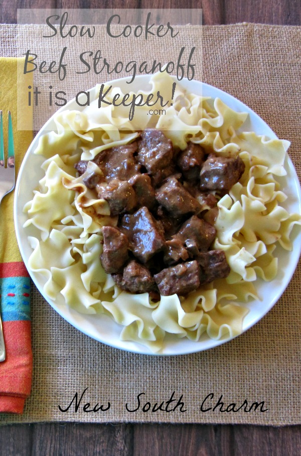 Slow Cooker Beef Stroganoff HERO