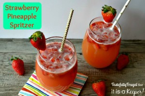 Strawberry Pineapple Spritzer: An Easter Mocktail