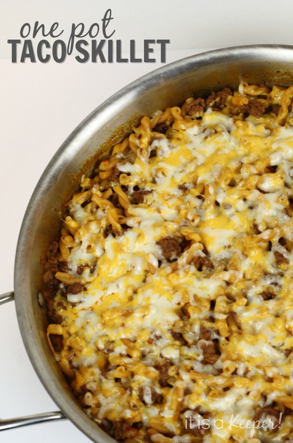 Dinner Recipes Quick Easy 30 Minute One Pot Taco Skillet - It Is a Keeper