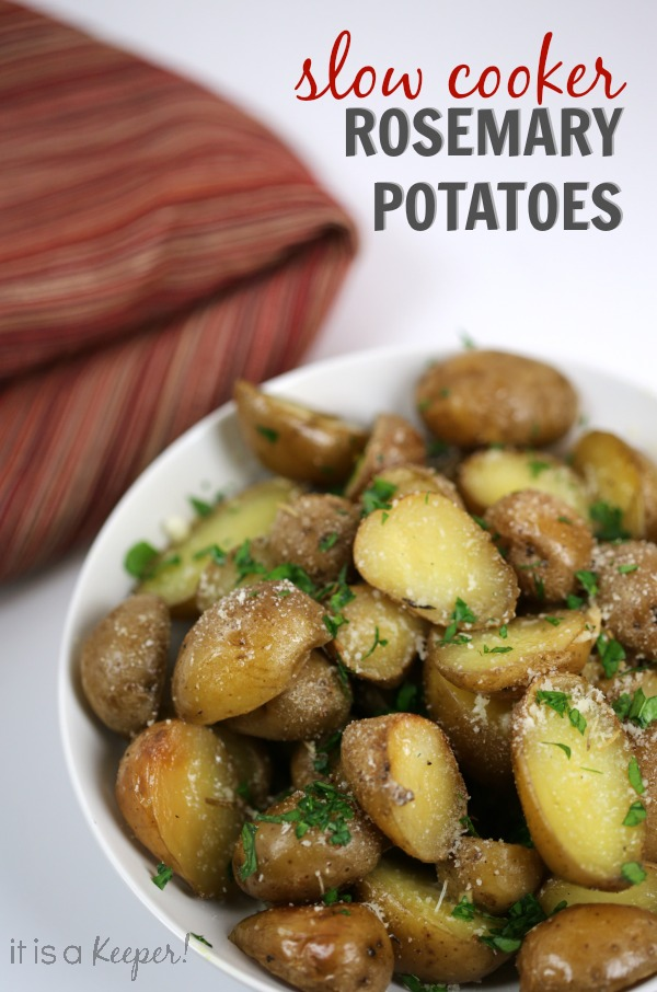 Best Crock Pot Recipes Slow Cooker Rosemary Potatoes - It Is a Keeper H