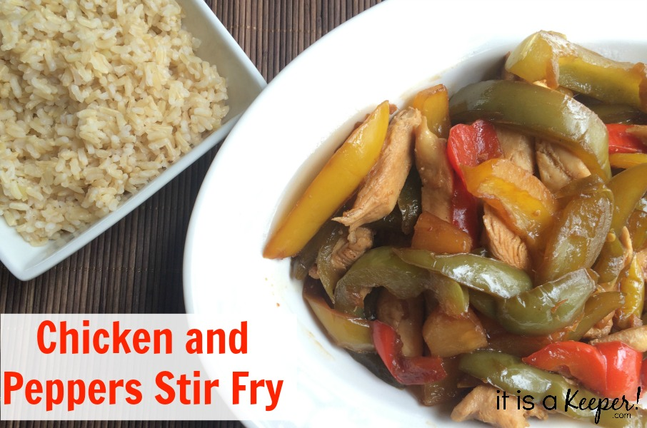 Dinner Recipes Quick Easy Chicken and Peppers Stir Fry with Rice - It Is a Keeper