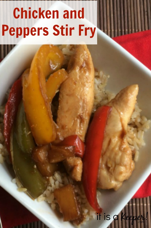 Dinner Recipes Quick Easy Chicken and Peppers Stir Fry - It Is a Keeper