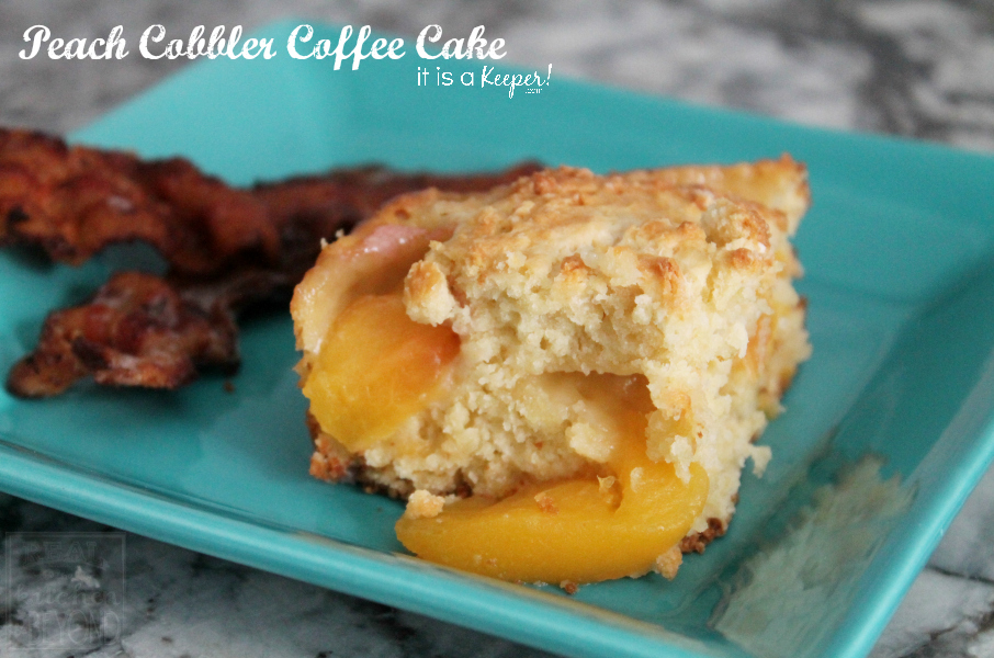 Peach Cobbler Coffee Cake CONTENT - It is A Keeper
