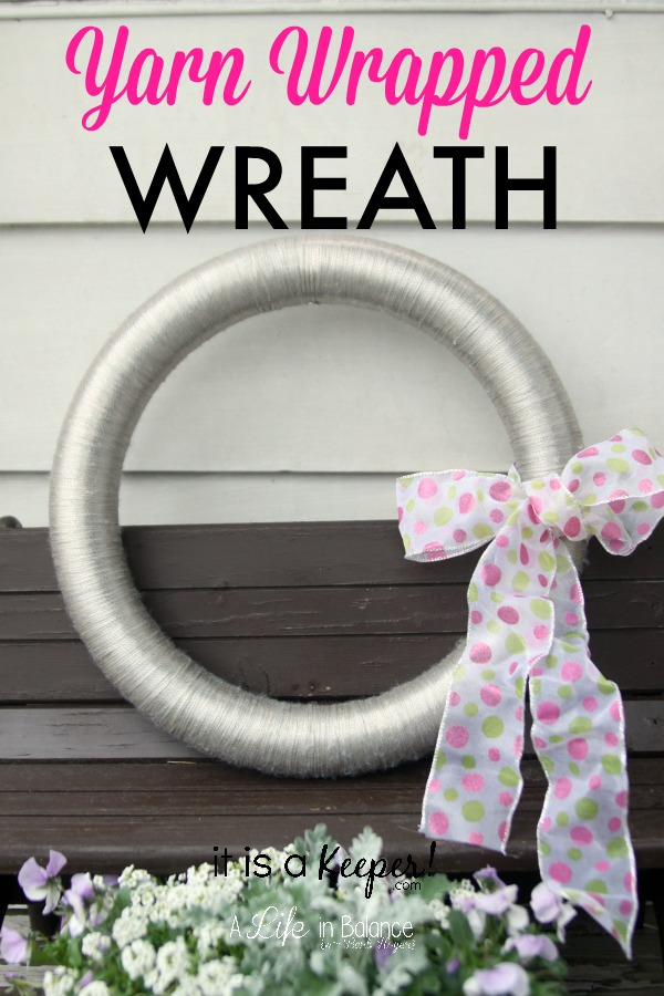 Yarn Wrapped Wreath HERO - It is a Keeper