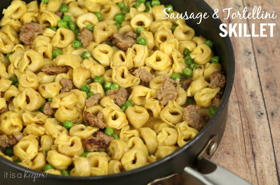 dinner recipes quick easy meals Sausage Tortellini Skillet - It Is a Keeper