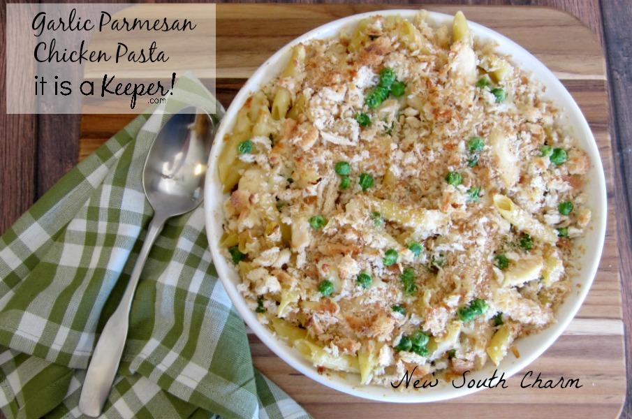 Garlic Parmesan Chicken Pasta Conten