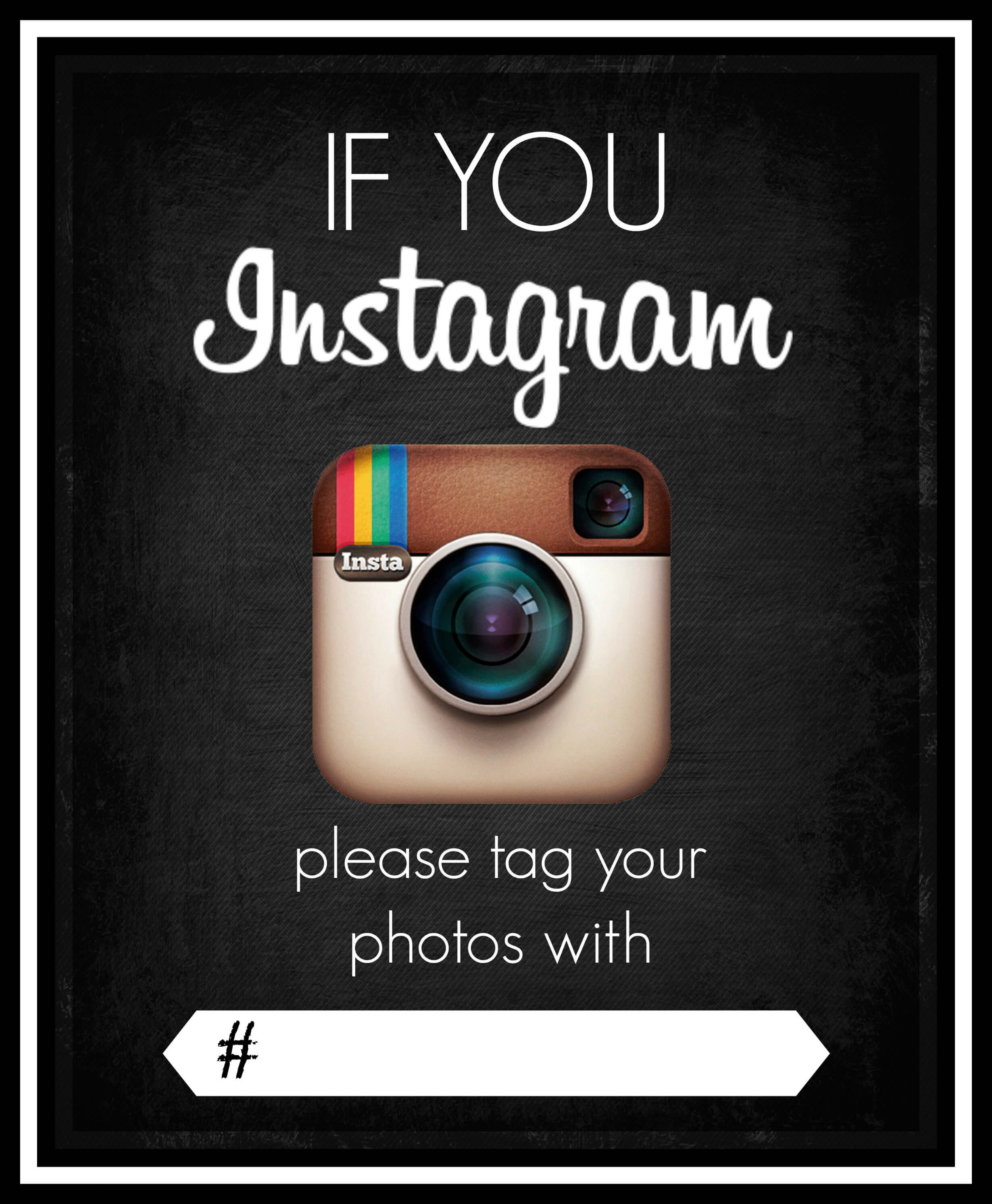 Instagram sign printable