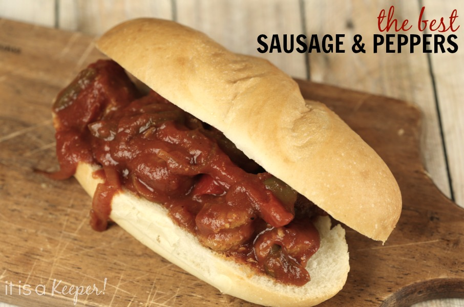 The Best Sausage and Peppers - it is a keeper