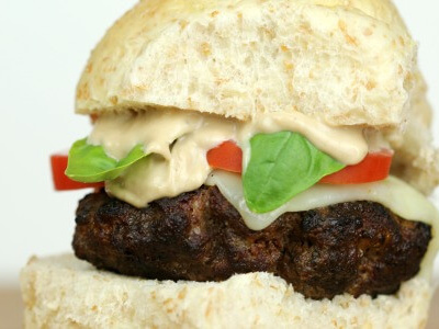 Balsamic Caprese Burger