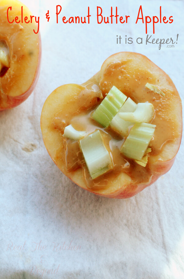 Celery and Peanut Butter Apples - HERO - It is A Keeper