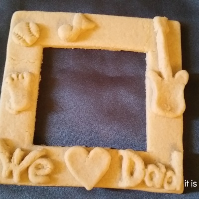 Homemade Dough Art:  Father's Day Frame