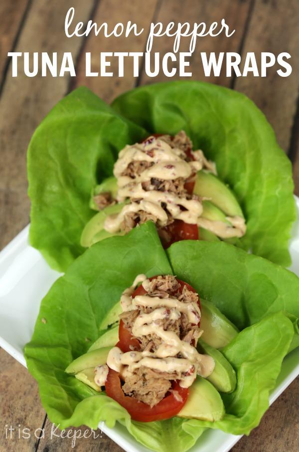 Lemon Pepper Tuna Lettuce Wraps - It is a Keeper
