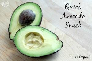 Quick Avocado Snack - C - ItisaKeeper.com