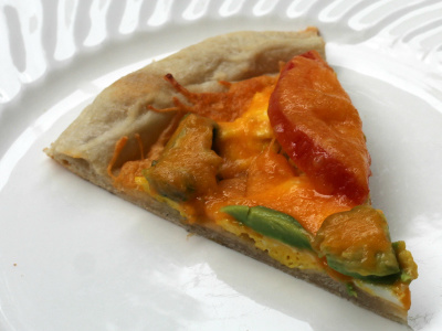 Tomato Avocado Breakfast Pizza