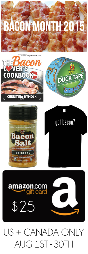 It's Bacon Month! Stop by itsakeeper.com for lots of bacon recipes! and enter to win bacon prizes!