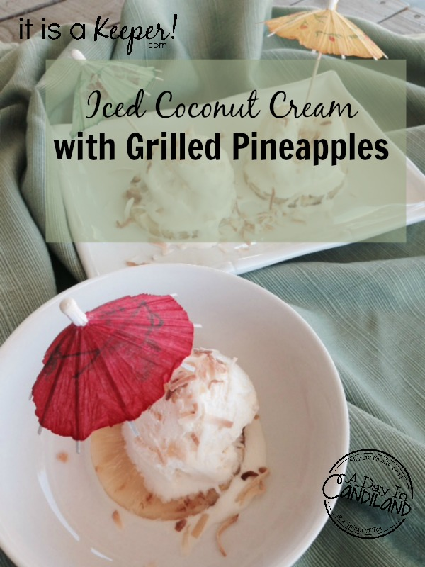 HERO Iced Coconut Cream with Grilled Pineapples