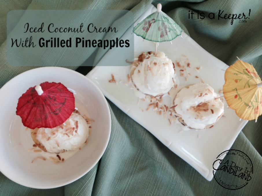 Iced Coconut Cream with Grilled Pineapple 3 servings