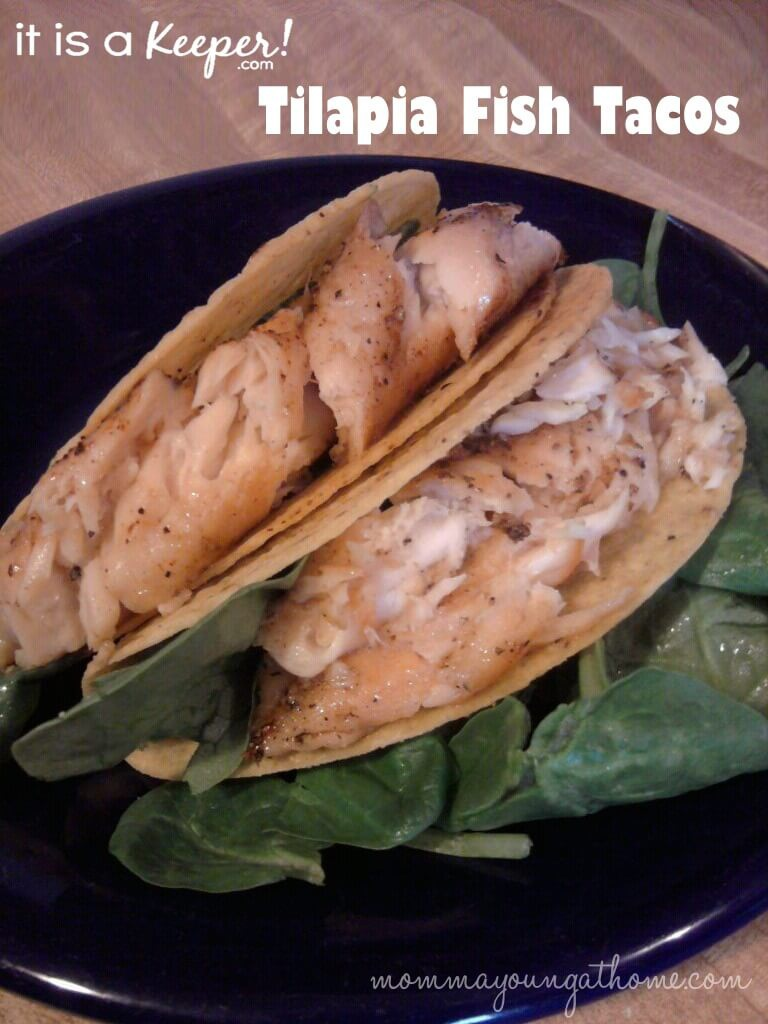 These Tilapia Fish Tacos are an easy and healthy dinner solution!