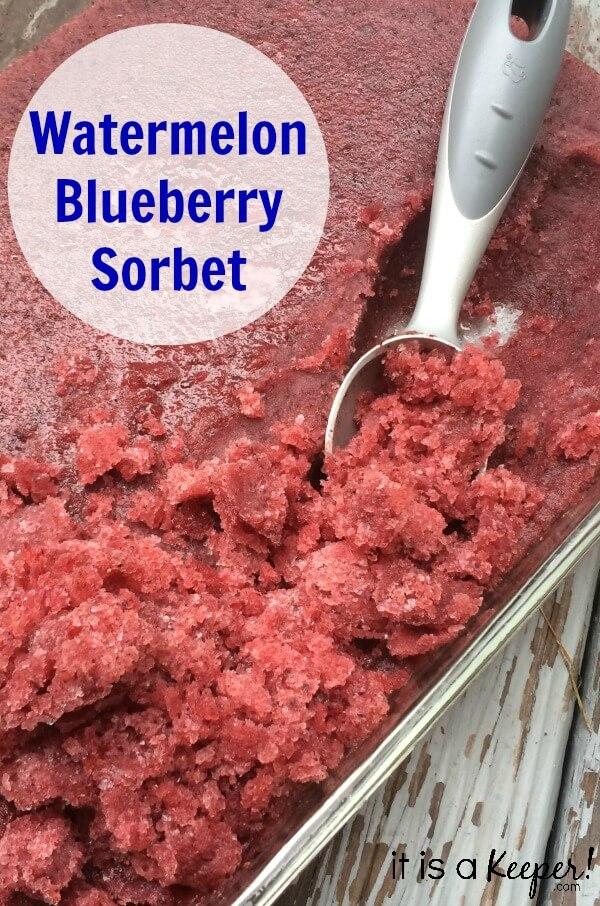 Watermelon Blueberry Sorbet