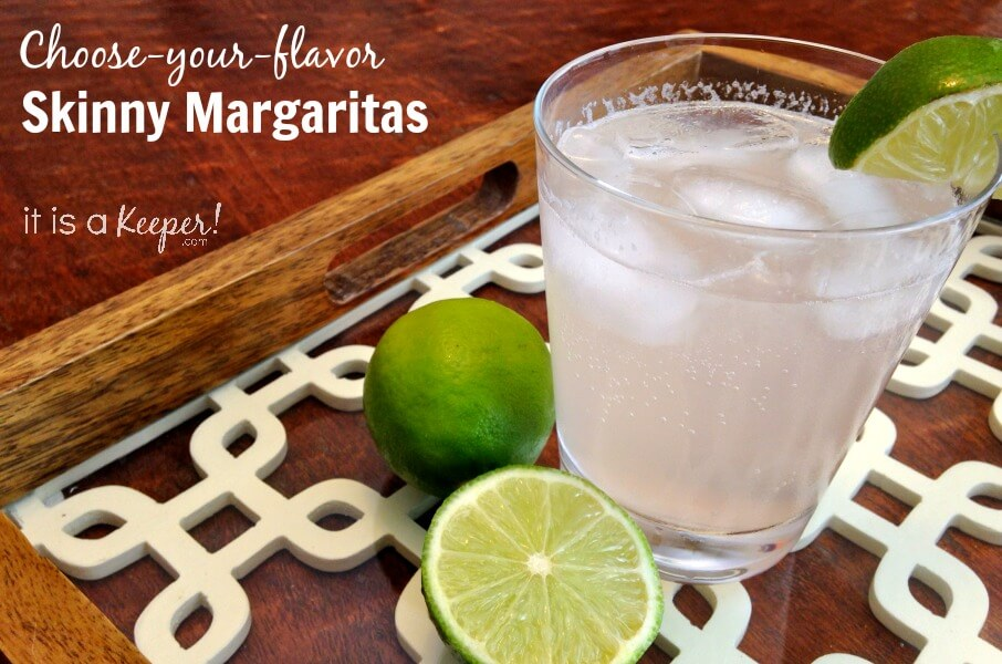 choose-your-flavor skinny margaritas