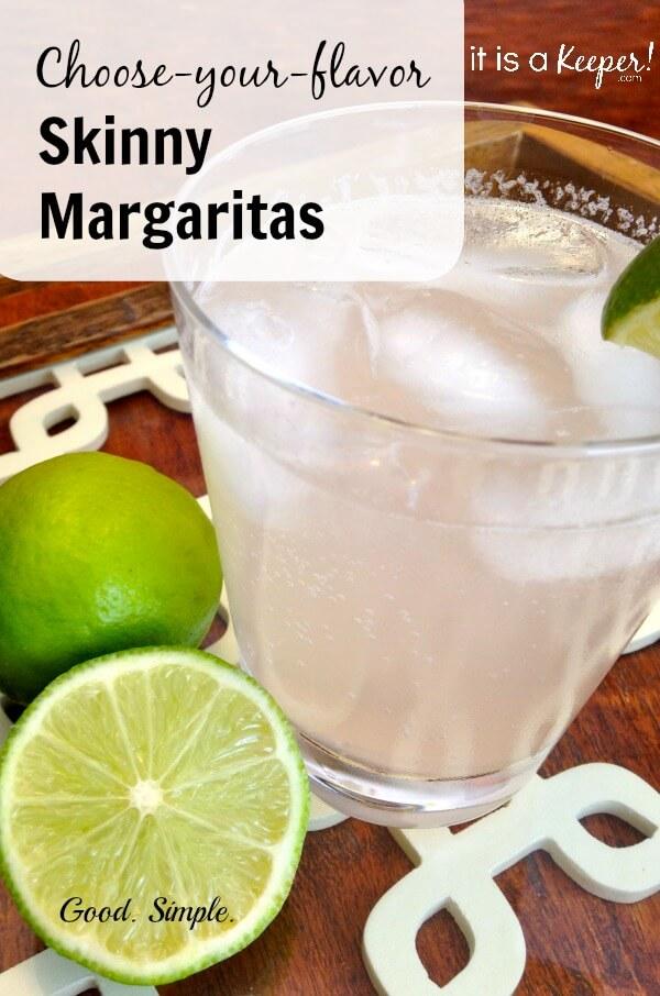 choose-your-flavor skinny margaritas