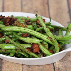 Bacon Glazed Green Beans - It Is a Keeper S