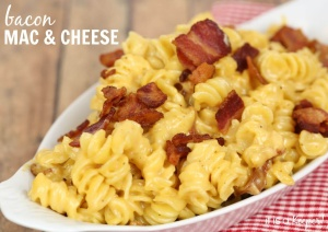 This creamy Bacon Mac & Cheese is loaded with bacon flavor!