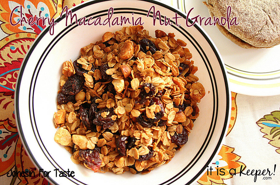 Cherry Macadamia Nut Granola