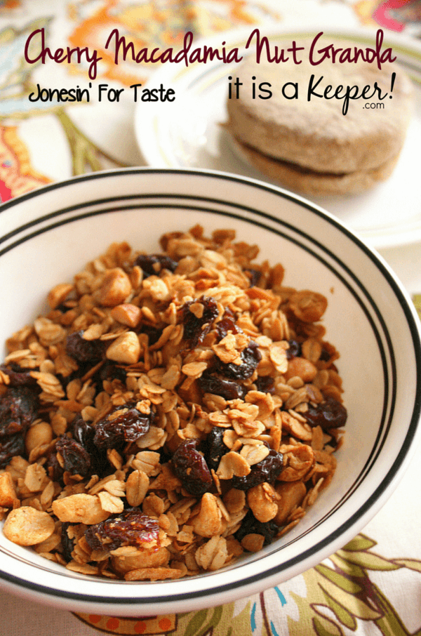This Cherry Macadamia Nut Granola makes a great breakfast or a healthy ...