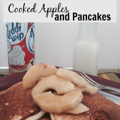 Pancakes and Cooked Apples