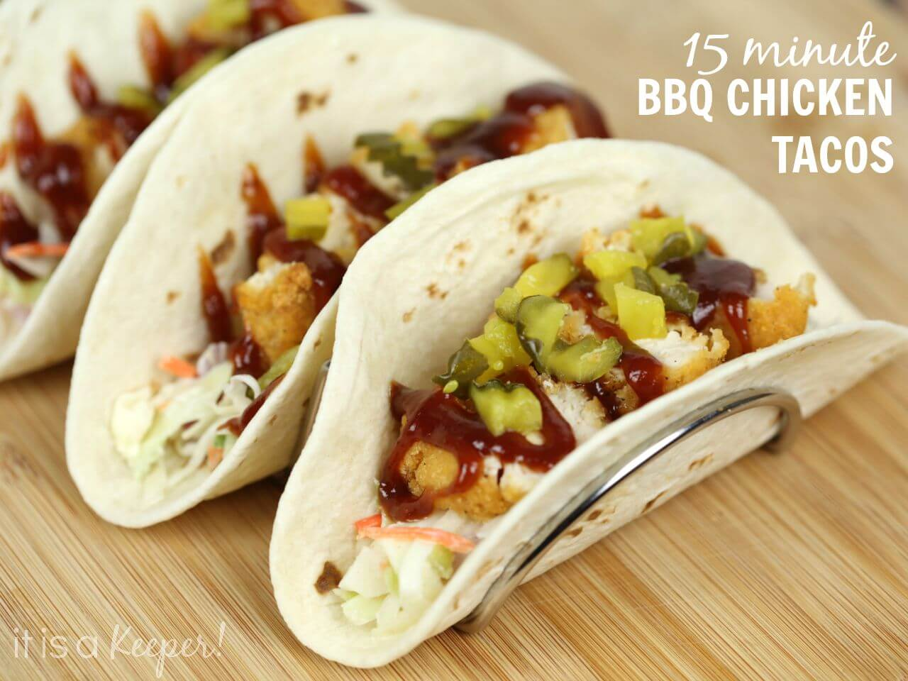 Easy 15 Minute BBQ Chicken Tacos