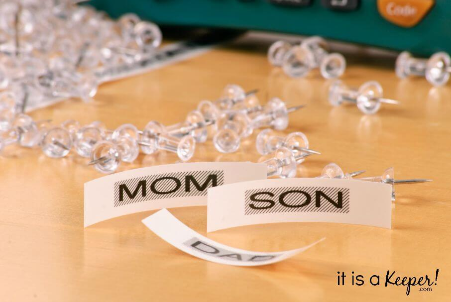Mom and Son Organizational Stickers